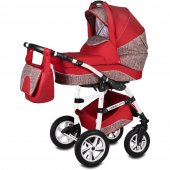 Carucior 3 in 1 Vessanti Flamingo Easy Drive  - Red