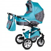 Carucior 3 in 1 Vessanti Flamingo Easy Drive  - Turquoise