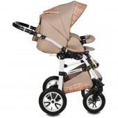 Carucior 3 in 1 Vessanti Flamingo Easy Drive  Beige