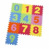 Covor Puzzle din Spuma Happy Children 10 piese - Numbers