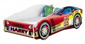 Set Pat Tineret 160x80 Energy Race Car Red + Saltea